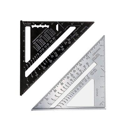 Goxawee Measurement Tool Aluminum Alloy Triangle Angle Square Ruler Protractor Woodworking Building