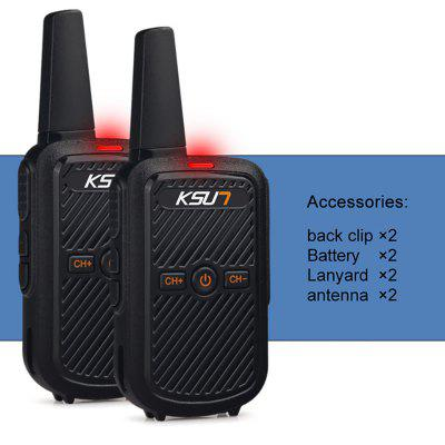 KSUN 2PCS KSX30-LT Wide Frequency Range Portable Mini Fm Radio Receiver Walkie Talkie