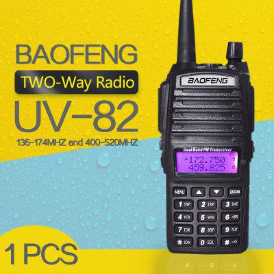 BaoFeng UV-82 Walkie Talkie Dual-Band 136-174 400-520 MHz FM Ham Two Way Radio Transceiver
