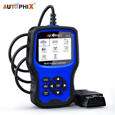 Autophix 7610 OBD2 Automotive Scanner ABS SRS EPB DPF TPMS Oil Reset Code Reader Car Diagnostic Tool
