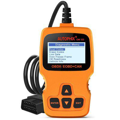 AUTOPHIX OM123 Auto OBDII Scan tool for Vehicle Checking Engine Light Hand-held Tester Scanner