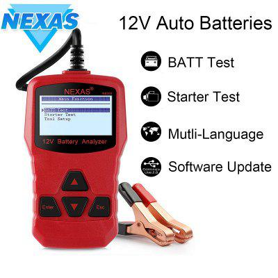 NEXAS NB300 12V Battery Tester Directly Check Starter and Cranking Charging System Battery Tester