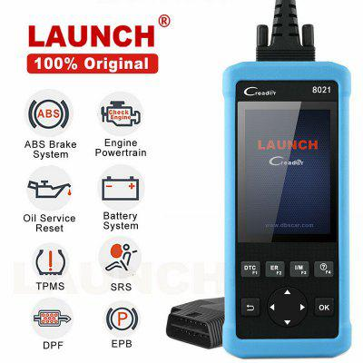 LAUNCH CReader CR8021 OBD2 Scanner DPF Regeneration Oil Reset ABS SRS EPB TPMS BMS