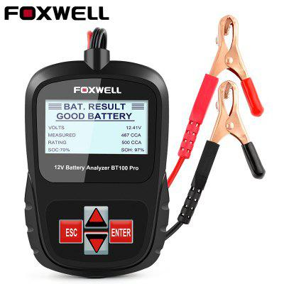 FOXWELL BT100 Pro 12V Car Battery Tester for Lead Acid Flooded AGM GEL