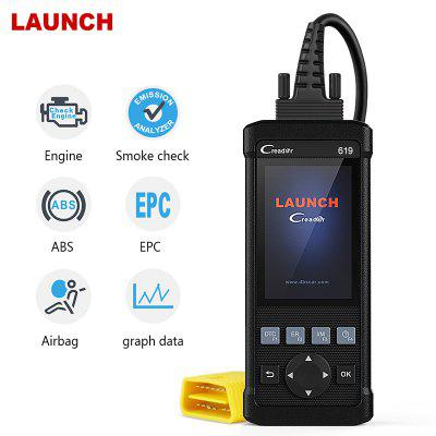LAUNCH X431 CR619 ODB2 Scanner ABS SRS Airbag Read Clear DTCs Tool Code Reader