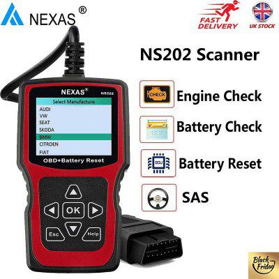 NEXAS NS202 OBD EOBD Engine Check Battery Health Check Battery Registration Scan Tool