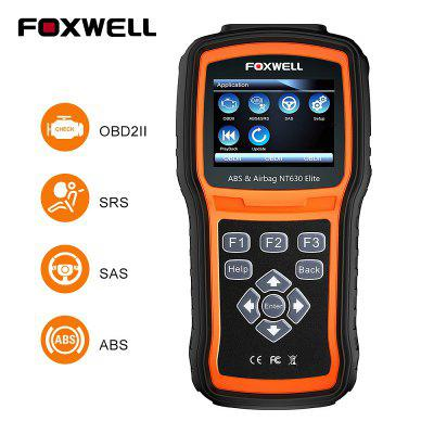 FOXWELL NT630 Elite Engine Check ABS SRS SAS Reset Broken Data OBD 2 Auto Diagnostic Tool