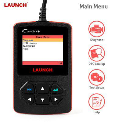 X431 Creader V Plus OBD OBD2 Automotive Scanner Fault Code Reader