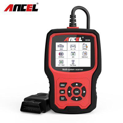 ANCEL VD700 All System OBD2 Scanner with 8 Special Functions for VAG Vehicles Diagnosis Code Reader mini elm327 l v1 5 obd2 bluetooth car diagnostic tool scanner interfac