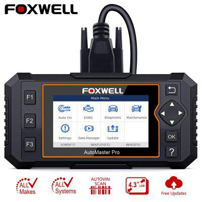 FOXWELL NT624 Elite OBD2 EOBD Automotive Scanner Full System Diagnostic Oil EPB Reset 2019 Latest [authorization distributor] autel maxidiag elite md802 all system ds model full system ds epb ols data stream dhl free shipping