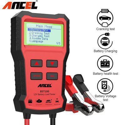 ANCEL BST100 Car Battery Tester 12V 220Ah 2000CCA Multilingual Battery Test for Car Motor