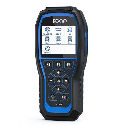 F506 Pro HD Diesel Truck OBD2 Scanner Heavy Duty and Car 2 In 1 Auto For Bus Excavator Diagnosis