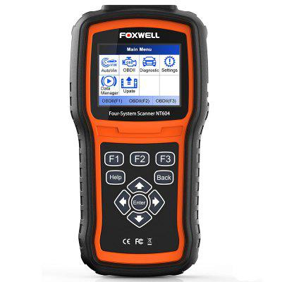 FOXWELL NT604 OBD2 Scanner Code Reader Four Systems Engine ABS SRS Transmission OBD 2 Diagnostic Tool Car Auto Tools