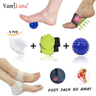 Plantar Fasciitis Inserts Arch Support Massage Ball  Best for Heel Pain Treatment