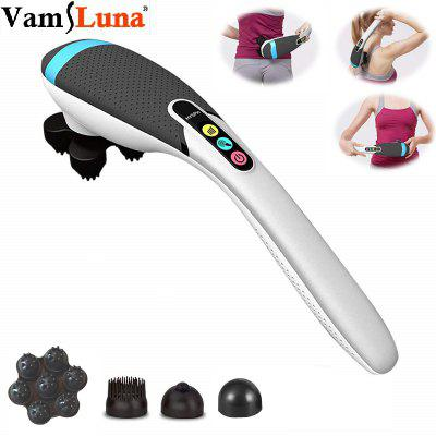 Handheld Electric Heat Deep Kneading Tissue Massager Cordless and Rechargeable Stick