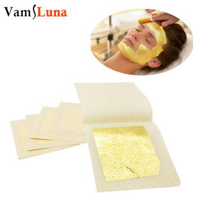 10pcs Pure Gold leaf Facial Mask 4.3 X 4.3CM For Anti aging Spa Massage 24k 100 percent 1 order