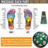 Natural Pebbles Massage Mat Cobblestone Health Care Pad Use Reflexology Theory