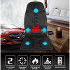 Heated Back Massage Seat For Car Home Office Heat Vibrate Cushion Back Neck Massage
