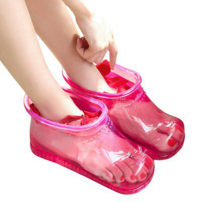 Foot Bath Massage Boots Soak Theorapy Massager Healthy Care Hot Compress Home Relaxation Slipper
