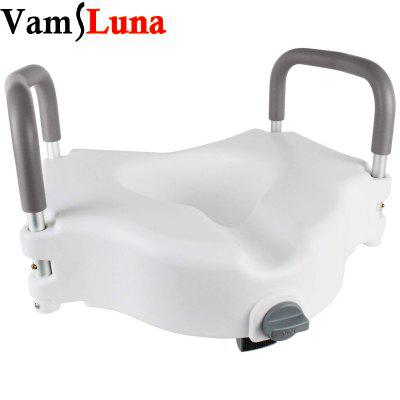 Portable Elevated Riser with Padded Handles - Toilet Seat Lifter for Bathroom Safety