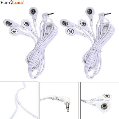 2 Pack Tens Replacement Lead Wires for Electrical Stimulator Full Body Relax Massager