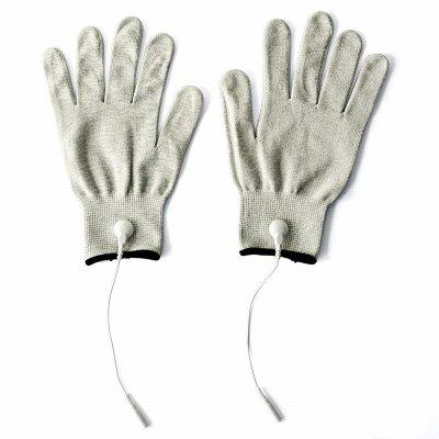 Silver Conductive Fiber Electrode Massage Gloves Socks For electrotherapy Therapy Compatible