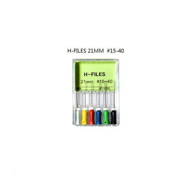 Dental Root Canal K-Files and REAMERS and H-FILES Stainless Steel Material 21MM