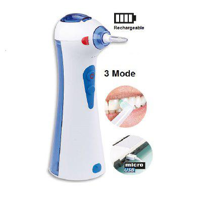 Dental Water Flosser With 2 Nozzles and 120ML Water Tank - Electric Rechargeable Oral Irrigator