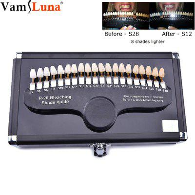 Teeth Whitening Color Palette Cold Light Whitening Before and After Contrast 20 Color
