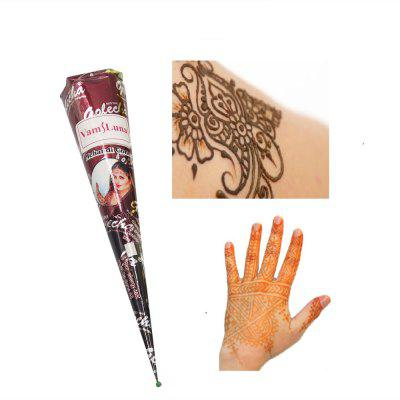 1X Natural Henna Paste Brown Color Mehndi Cone Body Art Paint Sexy Drawing Tribal