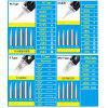 20Pcs Disposable Tattoo Needle Cartridges For Permanent Makeup Spring Drived Round Shader