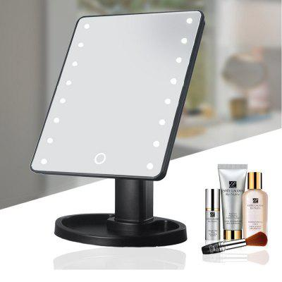 Led Makeup Vanity Mirror with 16 lights Smart Touch Screen 180 Degrees Adjustable Rotation