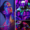12x 25g Glowing Face Body Paint Glow In The Dark UV Blacklight Neon Fluorescent for Party