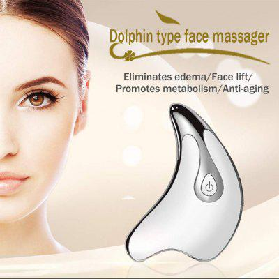 Electric Facial Lifting Beauty Instrument Dolphin Shape For Face Guasha Scraping Triangle