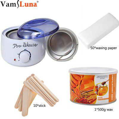 Electric Epilator Wax Warmer Hair Removal Machine Kit  Waxing Heater with 500g Wax 10 Wax Sticks