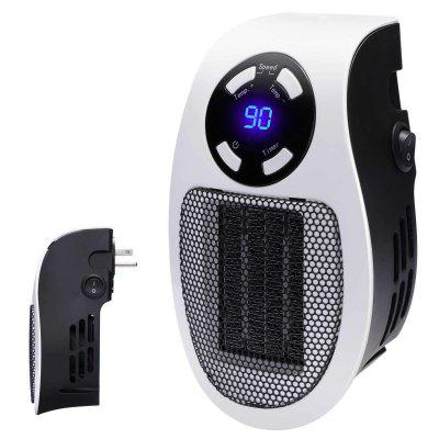 Handy Wall Space Heater - Plug-in Ceramic Mini Heater Portable with Adjustable Temperature