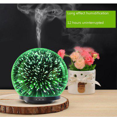 3D Glass Aroma Essential Oil Diffuser Mist Maker Ultrasonic Aromatherapy Air oils Humidifier 200ml