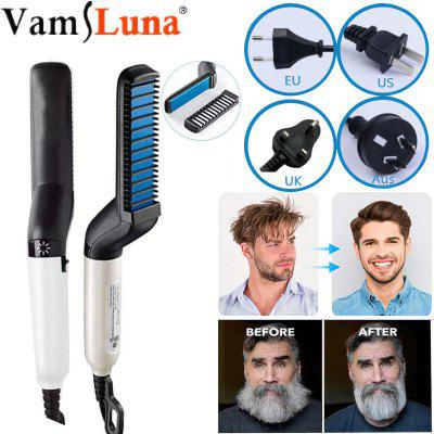Quick Beard Straightener Brush  Electric Hair Straightening  Heat Brush Magic Massage Comb for Men