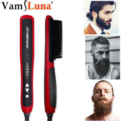 Beard Straightener Portable Men Fast Beard Comb LED Display Ceramic Heating Anti-Static