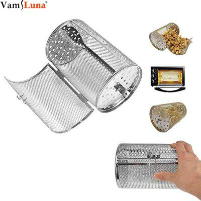 Coffee Grill Basket 14X23cm Stainless Steel Bakeware Oven Roast Baking Rotary