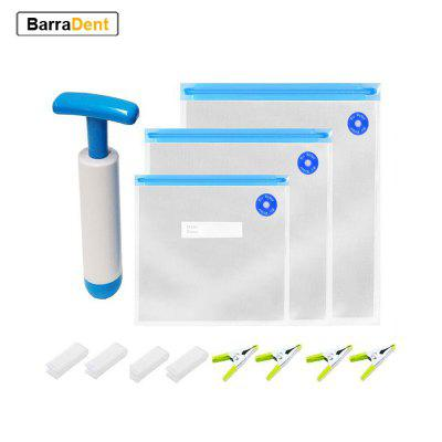 39pcs/set Sous Vide Vacuum Sealer Manual Pump BPA Free Food Saver Bags Reusable for Kitchen Storage Home Packaging