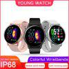 KSUN KSR905 Smart Watch IP68 Waterproof Tempered Glass Fitness Tracker Heart Rate Smartwatch