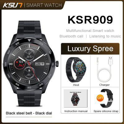KSUN KSR909 Smart Watch IP68 1.3 Full Round HD Screen ECG Changeable Smartwatch 4G Smart Bracelet