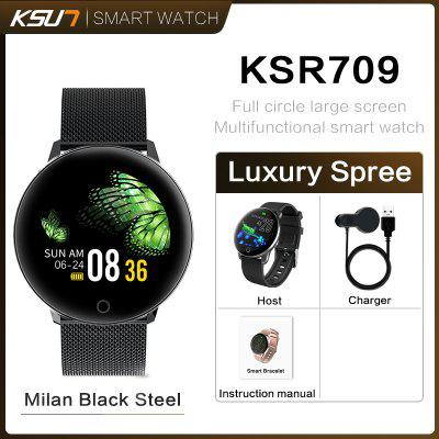 KSUN KSR709 Smart Watch Ecran Tactile Rond Écran Tactile Intelligent Fitness Tracker IP67 Sport Bracelet Hommes