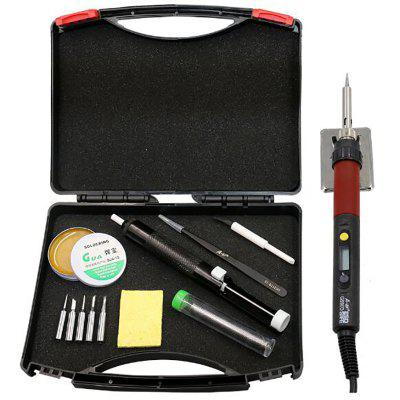 Soldering Iron A-BF LCD Display Adjustable Temperature Electric Soldering Iron Kit Soldering Tips