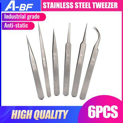 A-BF Stainless Steel Tweezer Prefessional High Quality Class A HRC40 Tweezers Set Industry