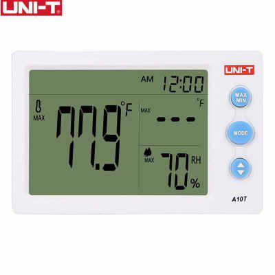 UNI-T A10T Digital LCD Thermometer Humidity Meter Clock Hygrometer of Weather Station Tester