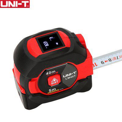 UNI-T LM40T Laser Tape Measure 40M 2-in-1 Rangefinder Infrared Distance Meter Electronic Ruler LCD