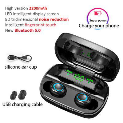 New S11 LED Bluetooth 5.0 Earphone Headphones Wireless HIFI Stereo Earbuds Gaming Headset With Mic