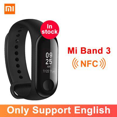 Xiaomi Mi Band 3 NFC Smart Bracelet Big Touch OLED Screen Fitness Message Heart Water resistant